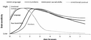 出展 : Graph developed by Council for Early Child Development (ref : Nosh,1997;Early Years Study,1999;Shonkoff,2000)